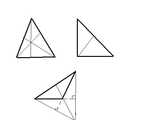 一个三角形里画三条高后有几个三角形?图片
