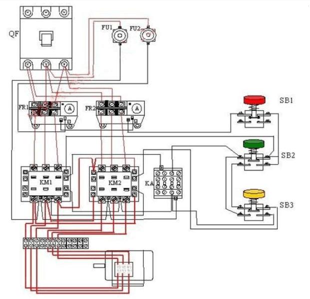 自动控制双速电机接线图