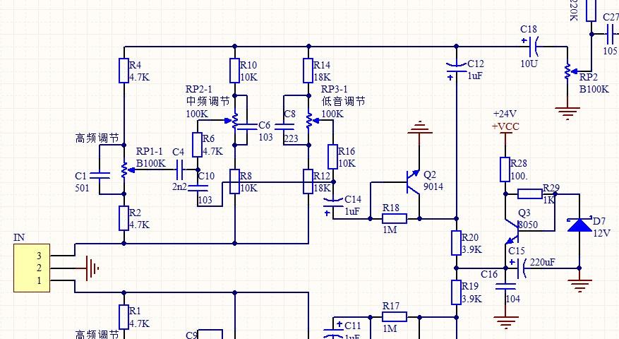 我想自制一个50瓦的功放,并且可以高低音调节.电路简单点的.