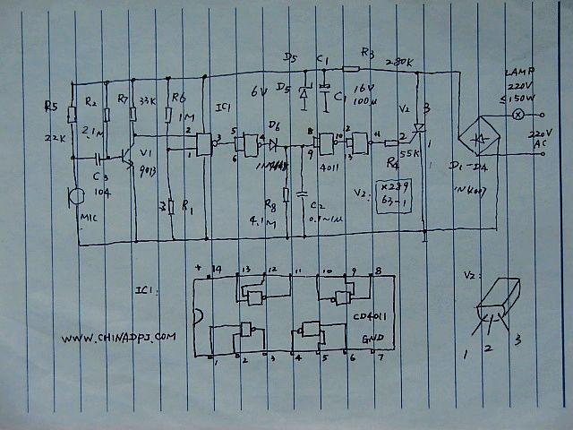 课程设计:多控(触控,光控,声控)电灯开关电路设计.