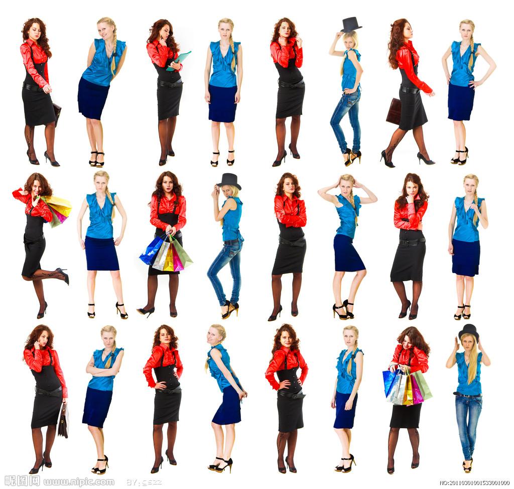 图片内的模特衣服可能不是你想要的,但是动作绝对是你想要摆的pose