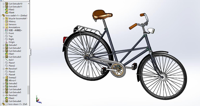 用solidworks2012画自行车手柄怎么画图片