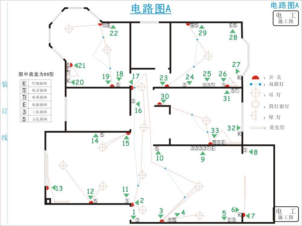 谁有商品房的家庭电路图