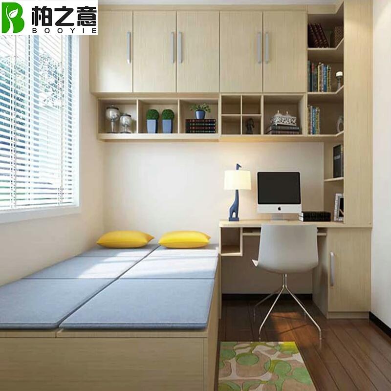 想在卧室做榻榻米,衣柜和电脑桌,求设计图