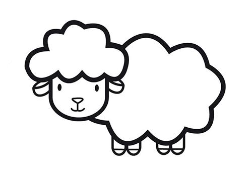 简笔画最简单的羊是怎么画的