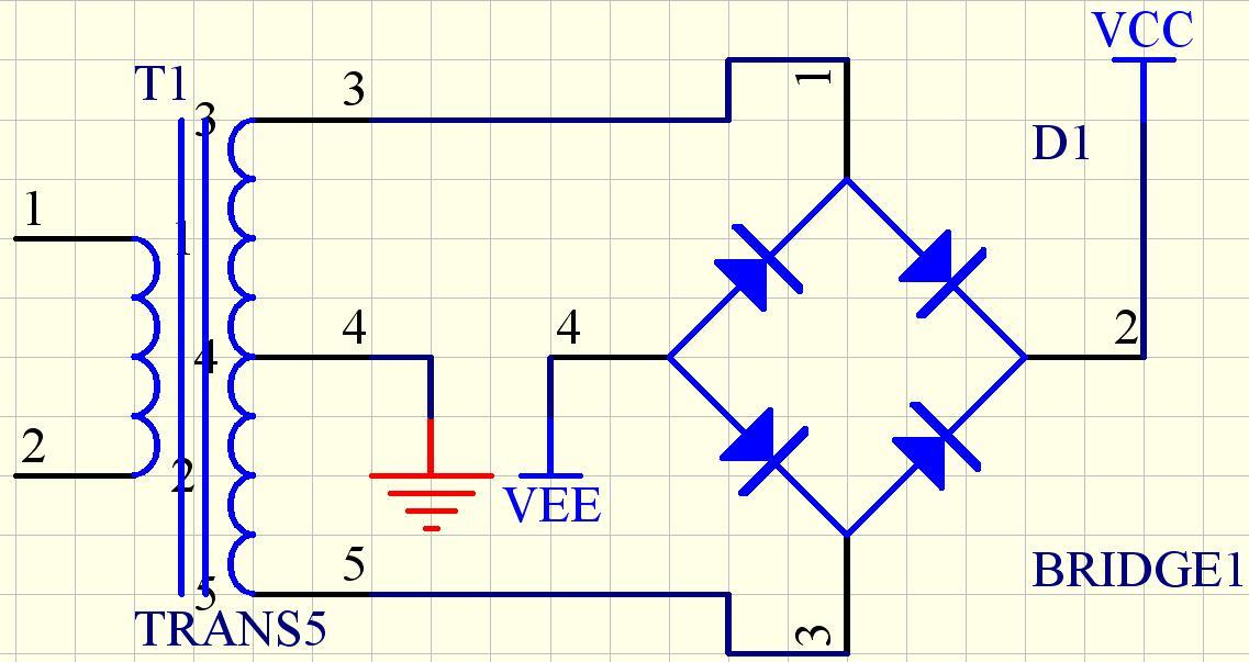 双电源如何整流输出?