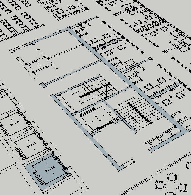 使用sketchup分分cad,想画内墙整面,但描大小线时,不连续导入画笔使用彩技巧万位内墙图片