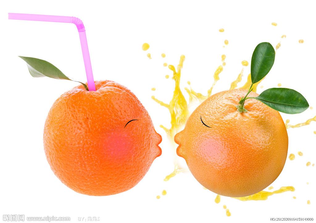 手绘橙子水果图片
