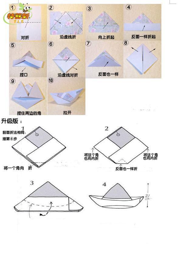 立体折纸大全图解 船