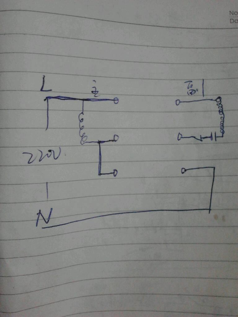 220v3,5千w电机有4个接线柱,倒顺开关有6个接线柱,它们的线路如何接