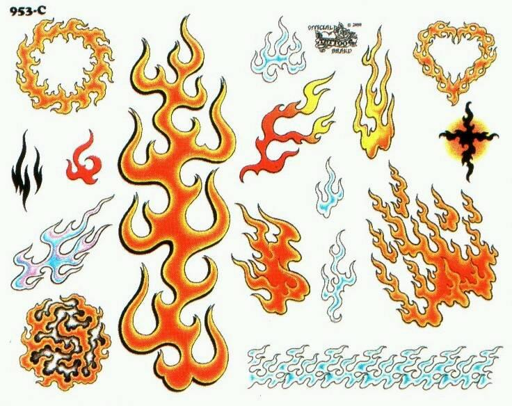 男 求纹身好看的火焰图腾图片 谢了图片