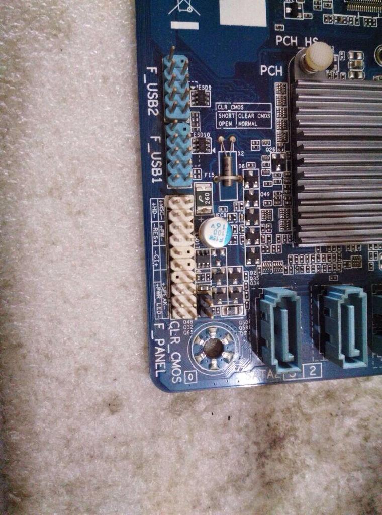 电脑主板接线,技嘉h61ma-d2v,看图.开机键2,开机键灯2