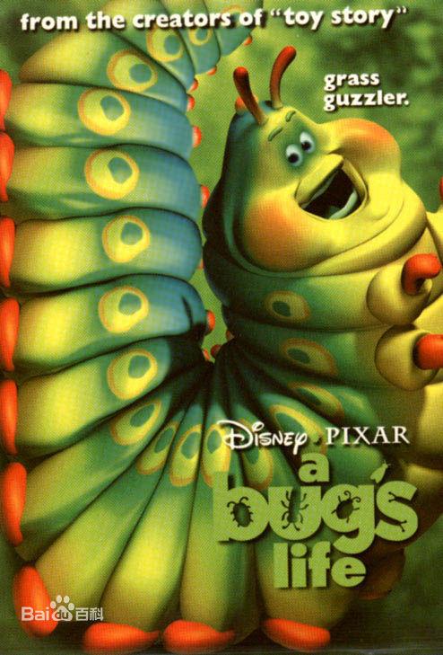 皮克斯制作的动画电影 虫虫危机 ,里面的毛毛虫哈其林,这个吊饰只是他