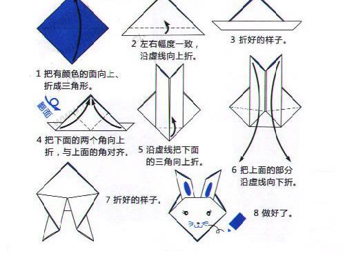 怎么折 吹气折纸小猫咪