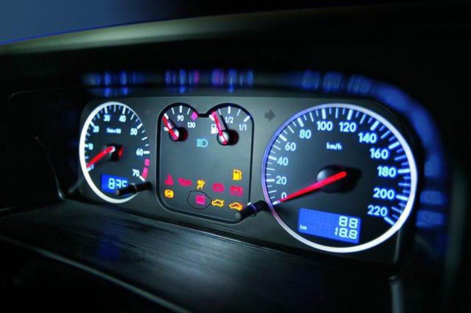 桑塔纳3000 仪表盘 图标 闪烁