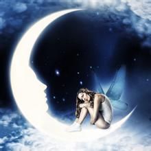 月亮美女艺术_美女与月亮相结合的图片