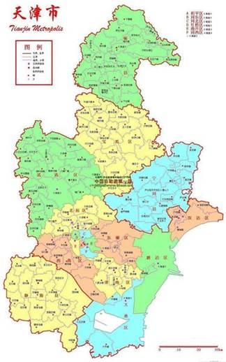 天津地图图片