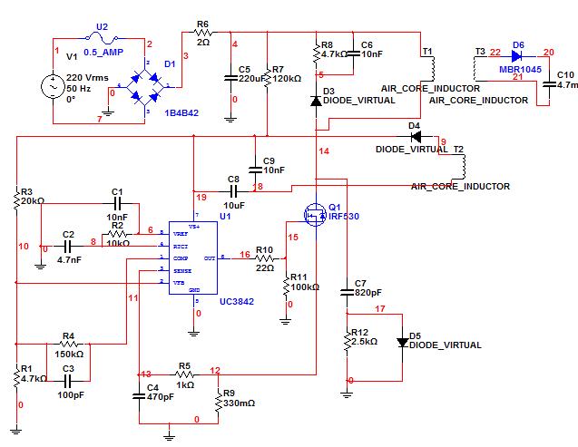 求指导,这电路图哪里错了,输入220v输出5v直流