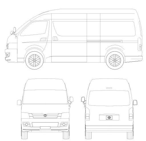 谁有大海狮汽车的平面5视图啊,谢了,做改装设计用的