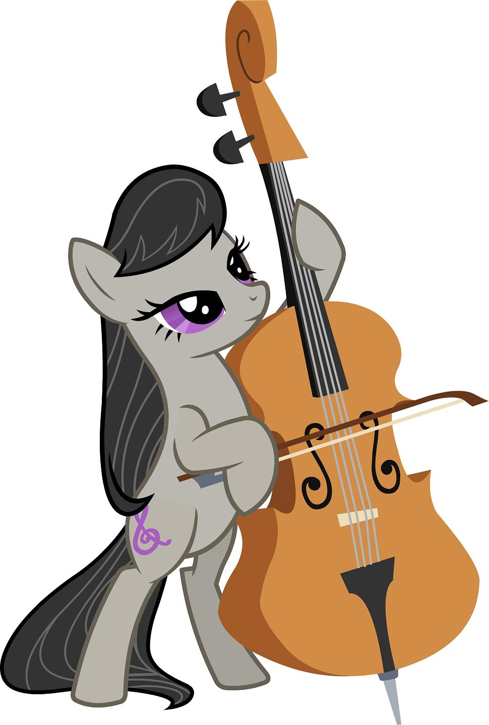 小马最出名的就是octavia melody,奥塔维亚/提琴姬,因其黑长直的发型图片