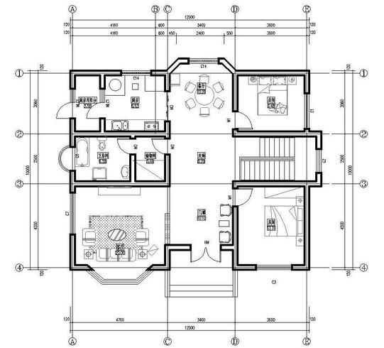 求个120平方米11米乘11米的房子平面设计图 回答发图