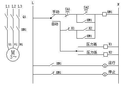 三相电机水泵智能自动水位控制器安装线路图