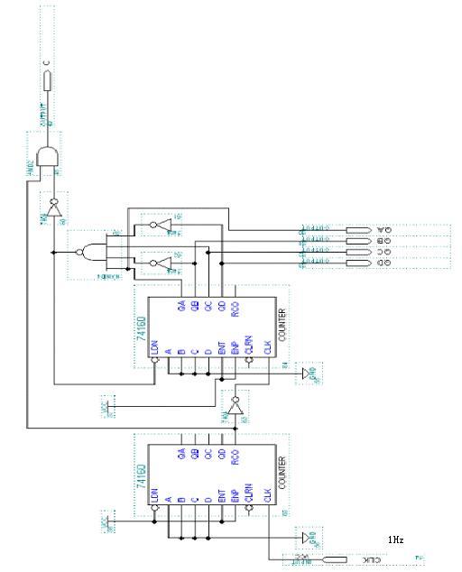 课程设计 一个60秒定时器 给出电路图 详细点 好的加分