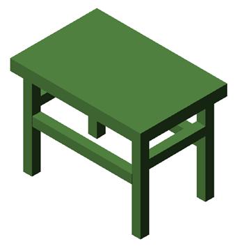 简单桌子三视图手绘