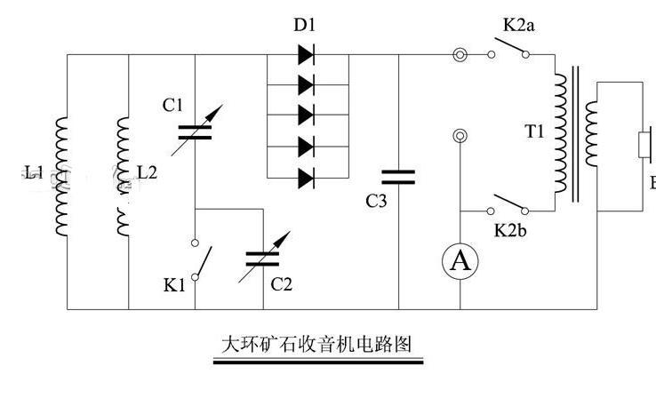 画出矿石收音机的电路原理图,制作矿石收音机需要哪些