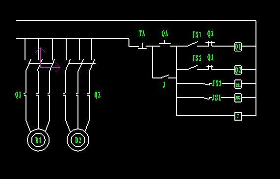 如图:另需增一只中间继电器j.因接触器.时间继电器都是间歇工作.