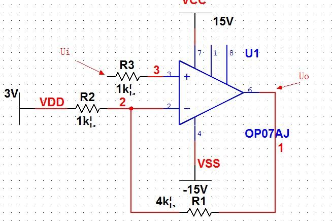 1.运放双电源供电 2.