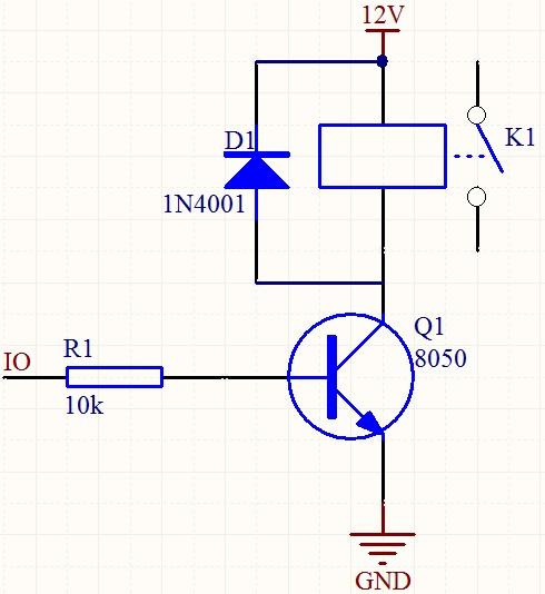 想要用单片机通过12v继电器控制小电机,求接线图!