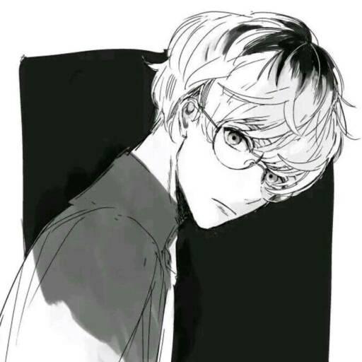 动漫男生帅气冷酷霸气黑白背景头像么