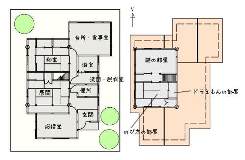 1000分求农村房屋格局平面图