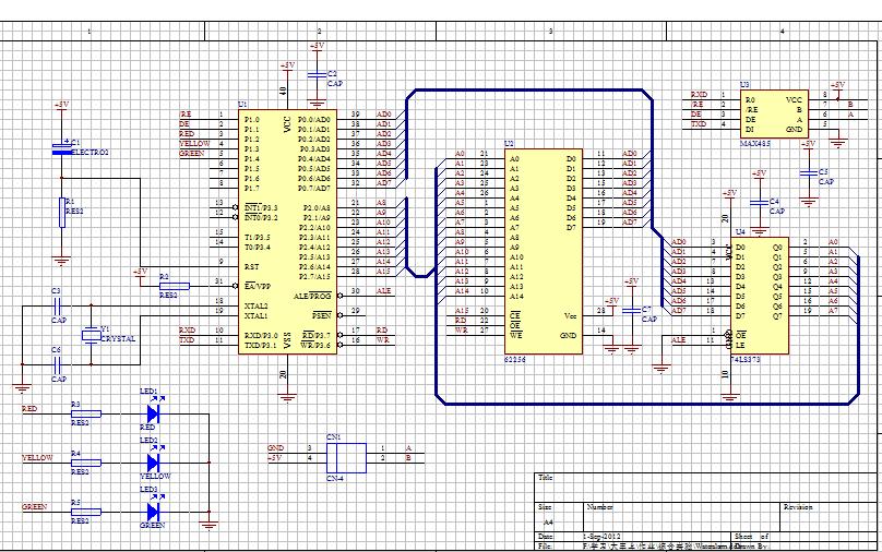 如何用at89c52单片机最小系统设计温度计原理图