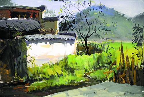 深圳大学美术考试素描装饰画怎么画,风景大概要画成什么程度就够了?急