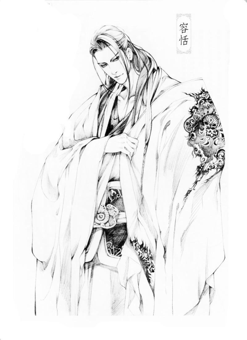 铅笔手绘古装人物