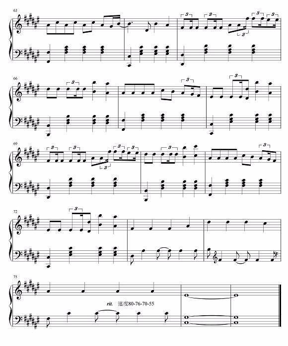 有没有faded的钢琴谱想去练一下,有的发图片