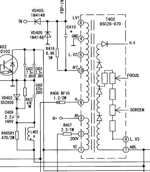 康佳彩电sp21808高压包型号
