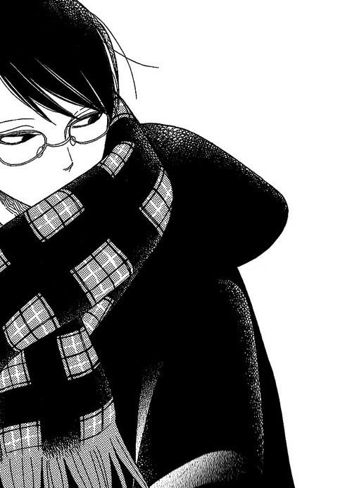 求黑发黑色边框眼镜动漫男生头像
