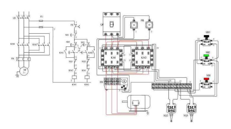 关于三相电机加定位开关的接线方法