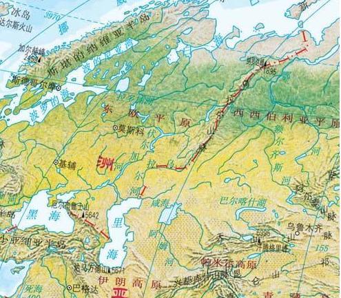 欧亚大陆的分割依据是是什么 谁分割的图片