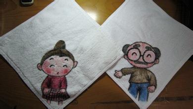 手绘手绢可爱型图案