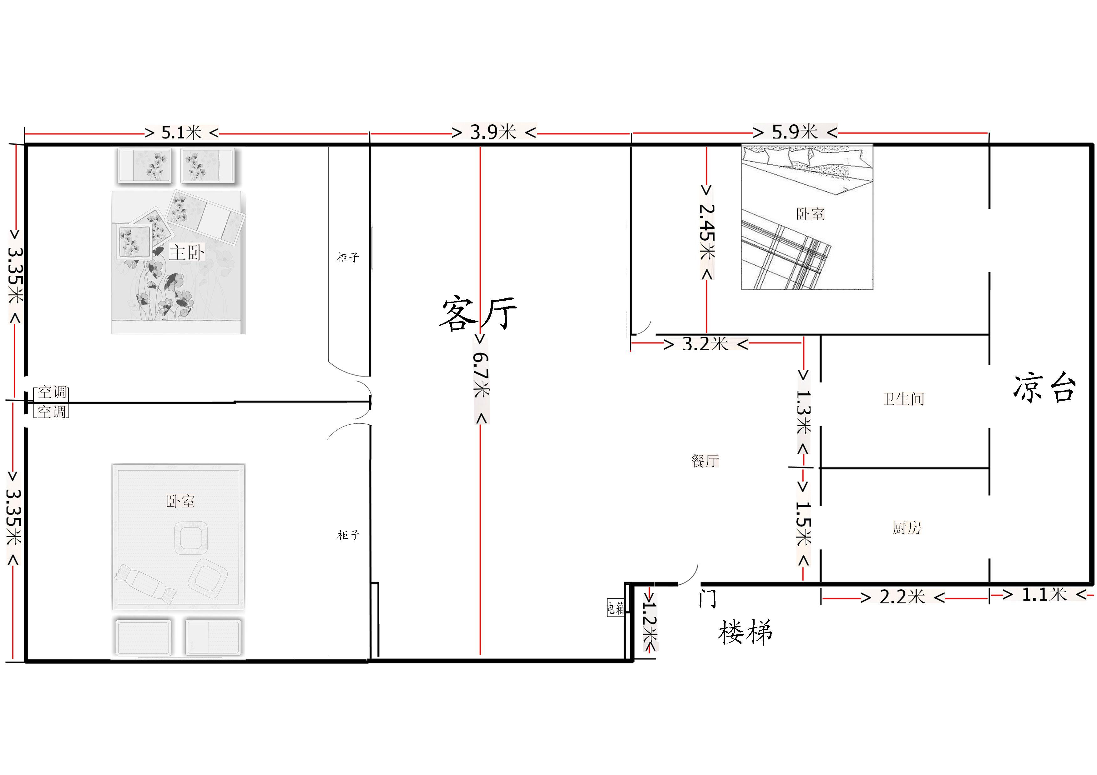 宽4米长15米多层设计图