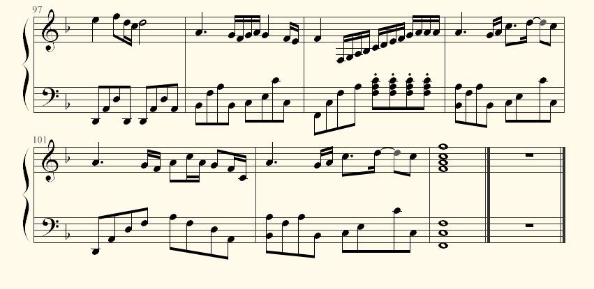 海阔天空61键电子琴谱
