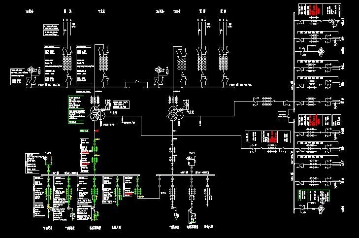 急求110kv总降压变电所的平面布置图,接地装置布置图
