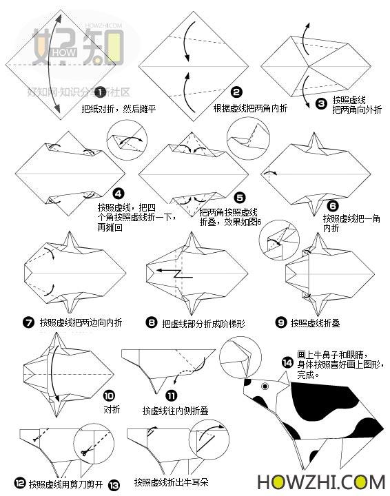 十二生肖每种动物的折法