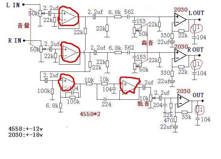 tda2030重低音电路分析