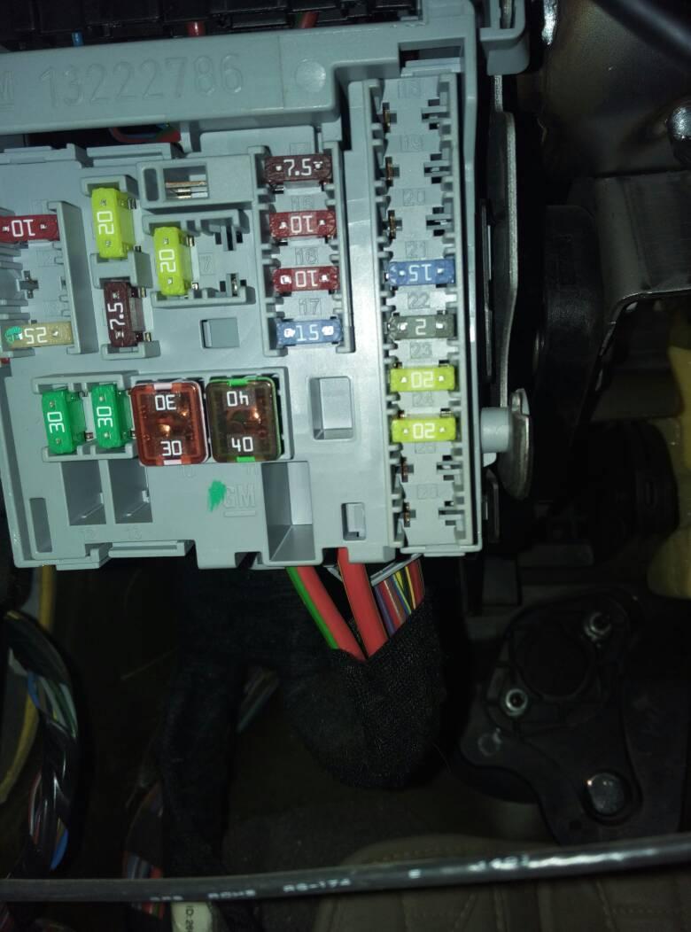 科鲁兹的保险丝盒里面哪一个是空调保险丝?