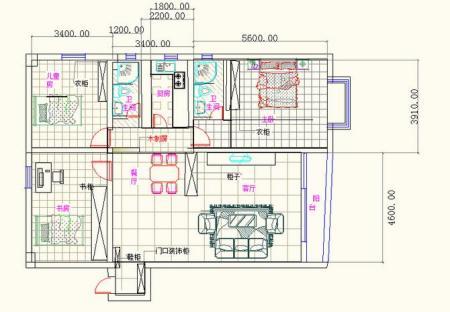 求130平方米房屋平面设计图.图片